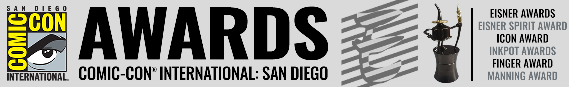 Comic-Con International Awards banner