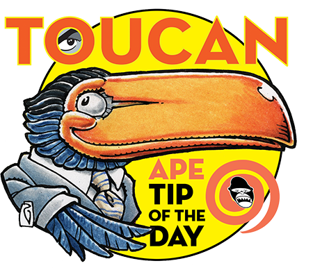 APE Toucan Tip of the Da