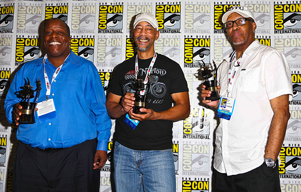 Comic-Con 2013 Inkpot Award winners Derek Dingle, Denys Cowan, and Michael Davis