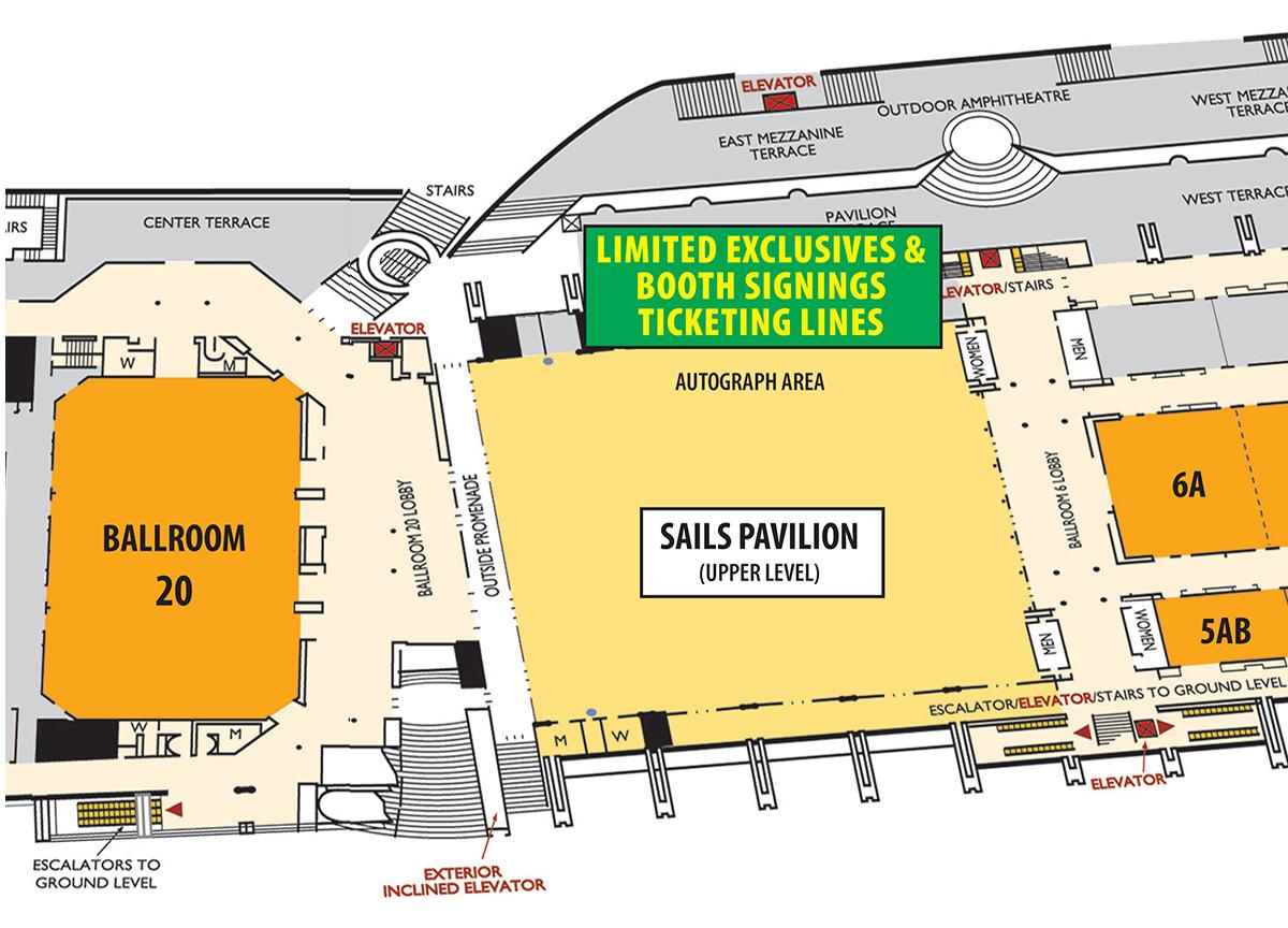 Comic-Con 2016 Sails Pavilion Exclusives Map