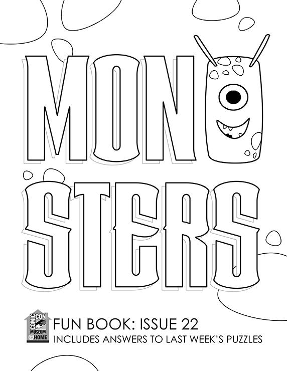 Comic-Con Museum Fun Book 22: Monsters