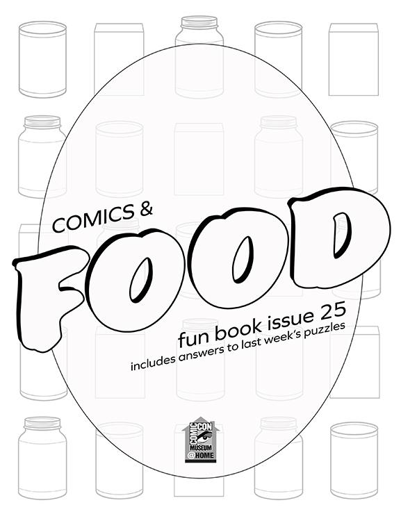 Comic-Con Museum@Home Fun Book #25: Comics & Food