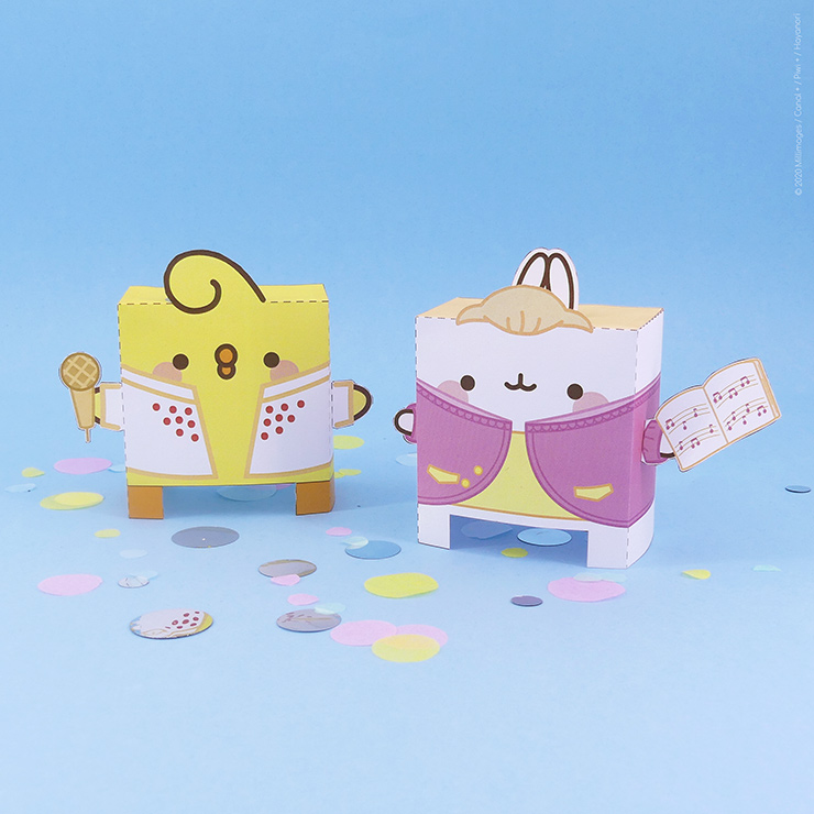 Comic-Con Museum Presents: Molang Paper Toy Printables #2: Do Re Molang