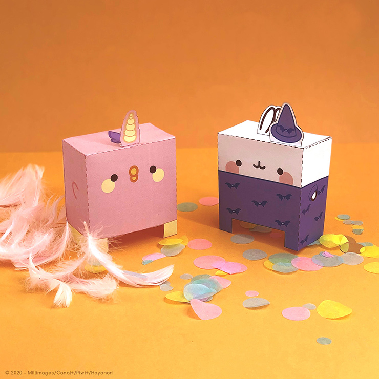 Comic-Con Museum@Home Presents Molang Paper Toy Printables #3: Costume Calling