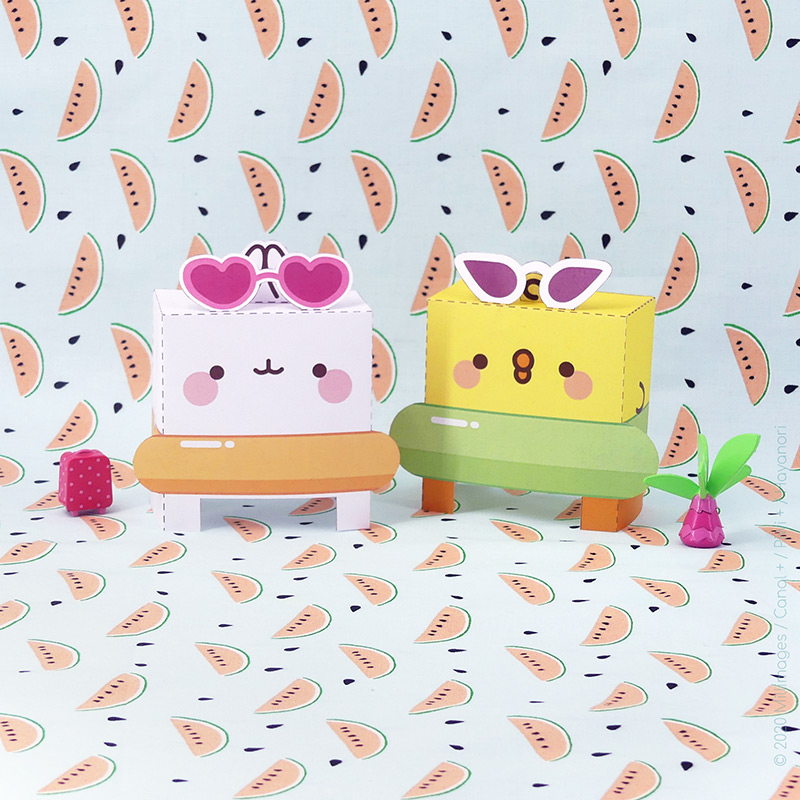 Comic-Con Museum@Home Presents: Molang Paper Toy Printables #1: Beachy Keen