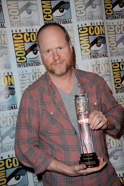 Joss Whedon with the 2014 Comic-Con International Icon Award