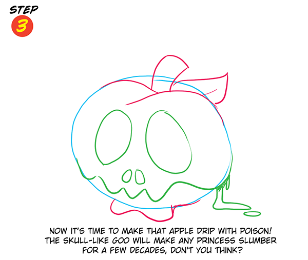 Witch's Poison Apple Step 3