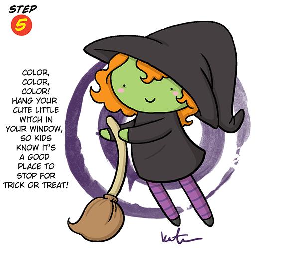 Halloween Witch Ste