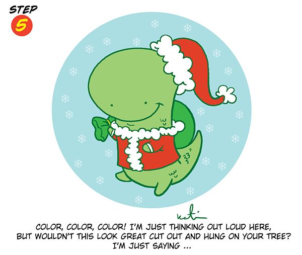 Holiday Dinosaur Step
