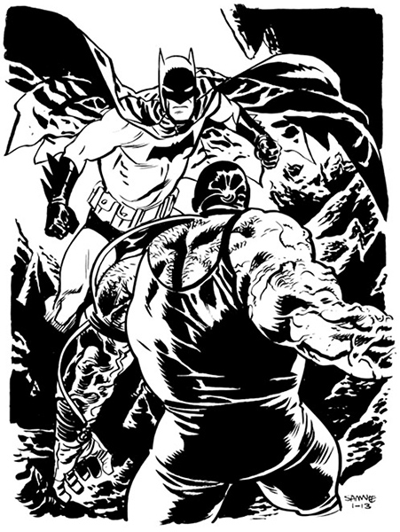 A recent Batman drawing by Chris