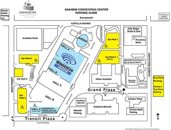 Anaheim Convention Center Parking Map