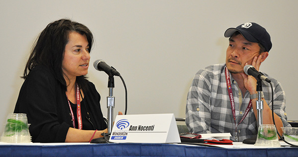 Ann Nocenti and Jim Lee at WonderCon Anaheim