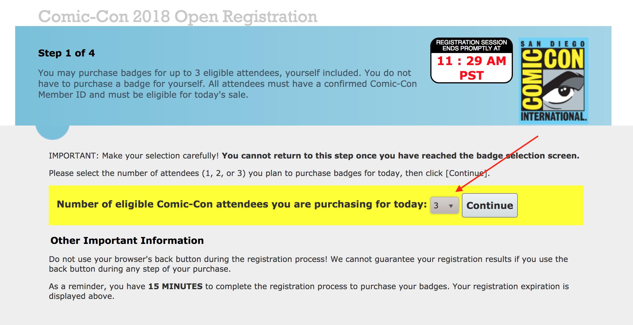 Open Registration Select Members