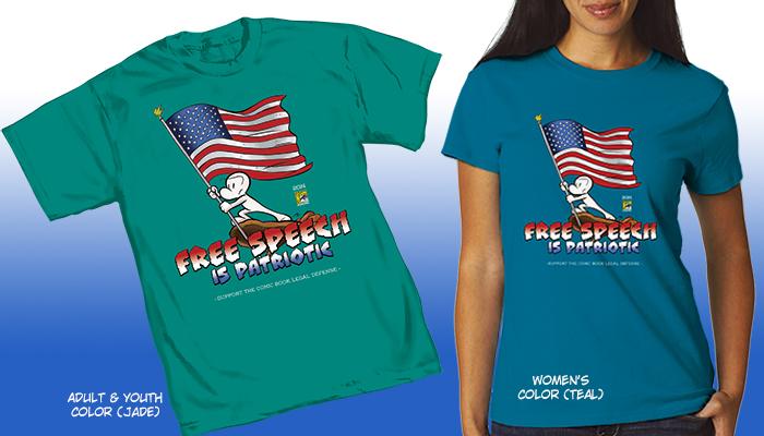 Comic-Con International 2014 Comic Book Legal Defense Fund T-Shirt