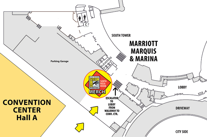 Comic-Con Merch Location