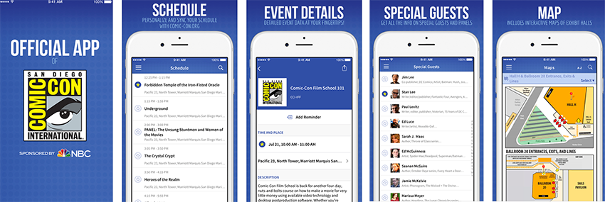 The Official Comic-Con App Updated for 2016