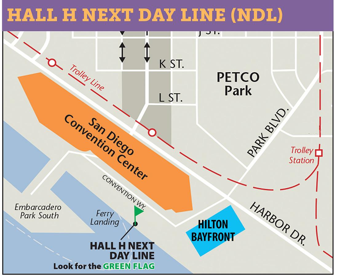 Comic-Con International 2017 Hall H Next Day Line Map