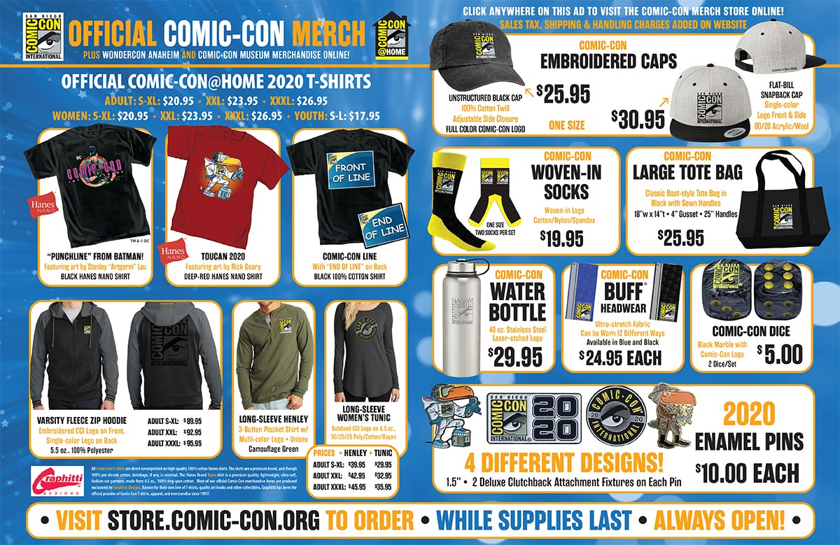 Comic-Con@Home 2020 Merchandise