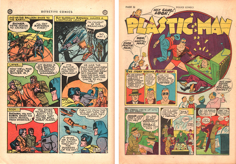 Batman and Robin and Plastic Man