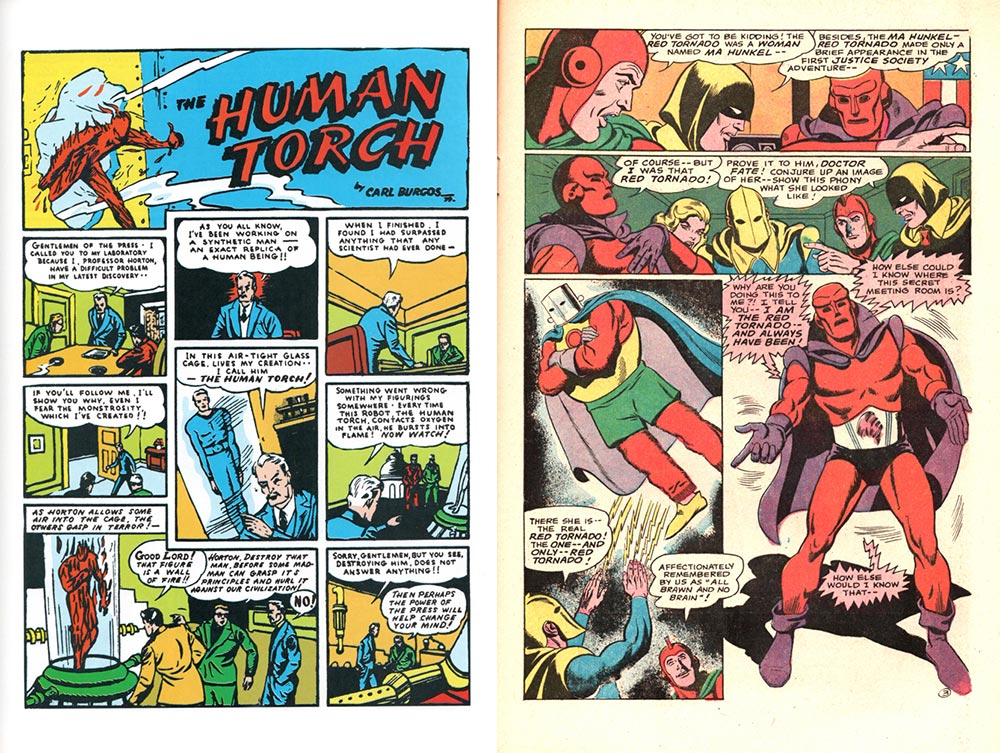 Red Tornado and the Human Torch