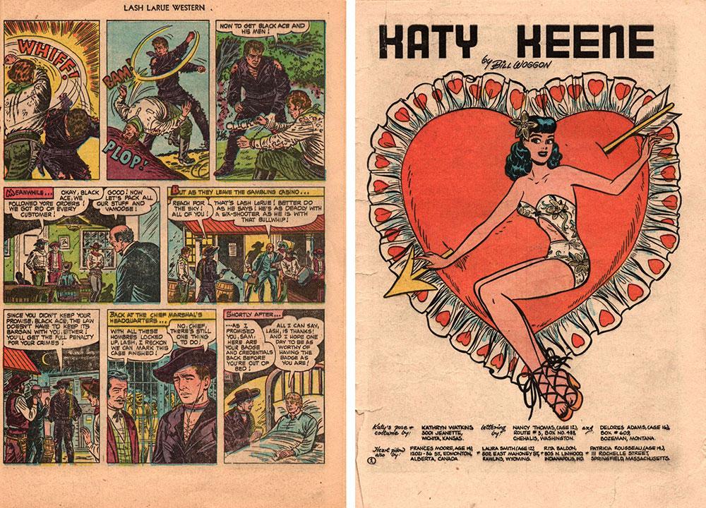 Cover of Lash LaRue Western #46 and Katy Keene Comics #16