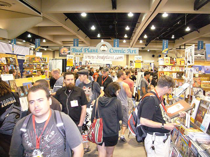 Bud Plant's booth at Comi