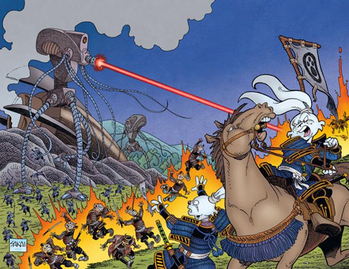 The cover of Usagi Yojimbo: Senso #2, Stan's return to the character after a hiatus.