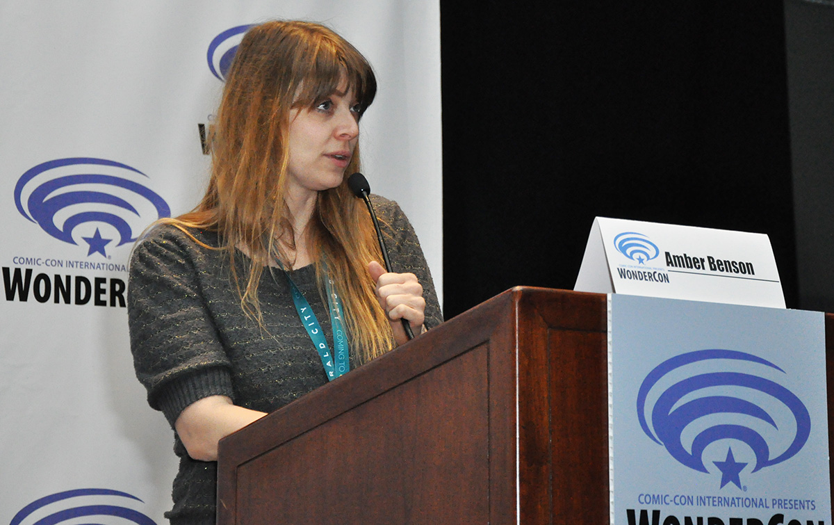 Actor/author Amber Benson was a WonderCon 2016 special guest. Photo: R. Manahan © 2016 SDCC
