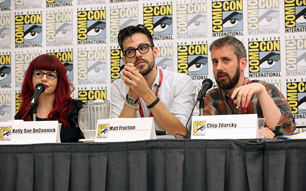 Comic-Con International 2014 Photo Gallery Kelly Sue DeConnick, Matt  Fraction, and Chip Zdarsky on the Image Comics: I is for ... Inception  panel at Comic-Con 2014. Fraction would go on to win twice at the Will  Eisner Comic Industry Awards on Friday ...