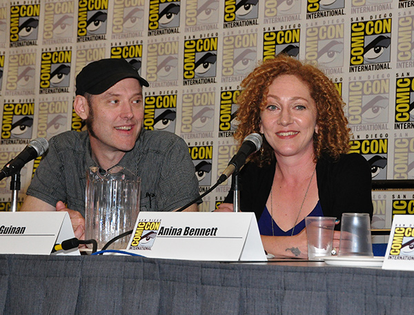 Paul Guinan and Anina Bennett at Comic-Con International 2013