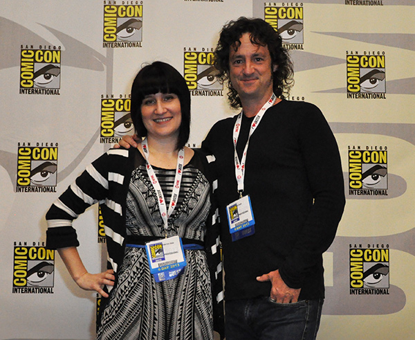 Faith Erin Hicks and Jeff Smith at Comic-Con International 2013