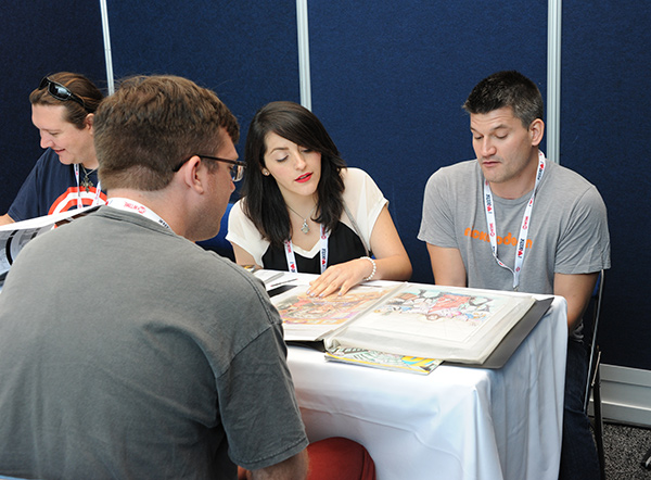 Portfolio review at Comic-Con International 2013