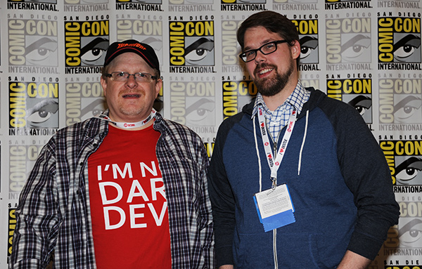 Mark Waid and Chris Samnee at Comic-Con International 2013