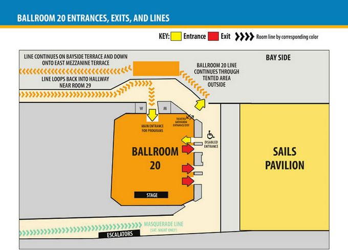 Comic-Con 2014 Ballroom 20 Map
