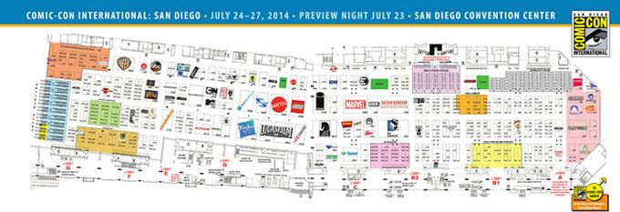 Comic-Con 2014 Exhibit Hall Map