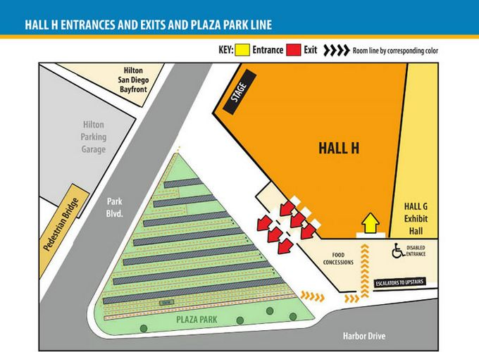 Comic-Con 2014 Hall H Map