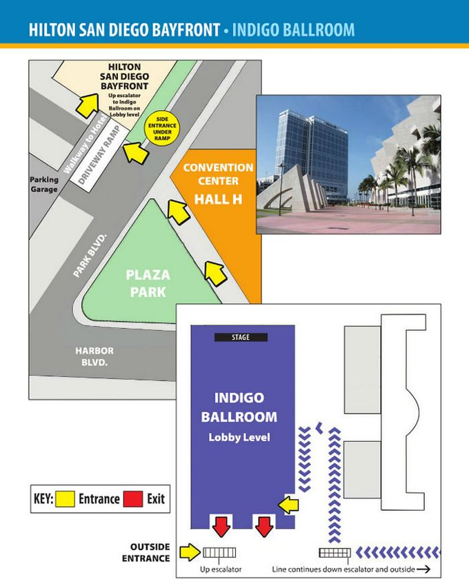 Comic-Con 2014 Hilton Bayfront Map