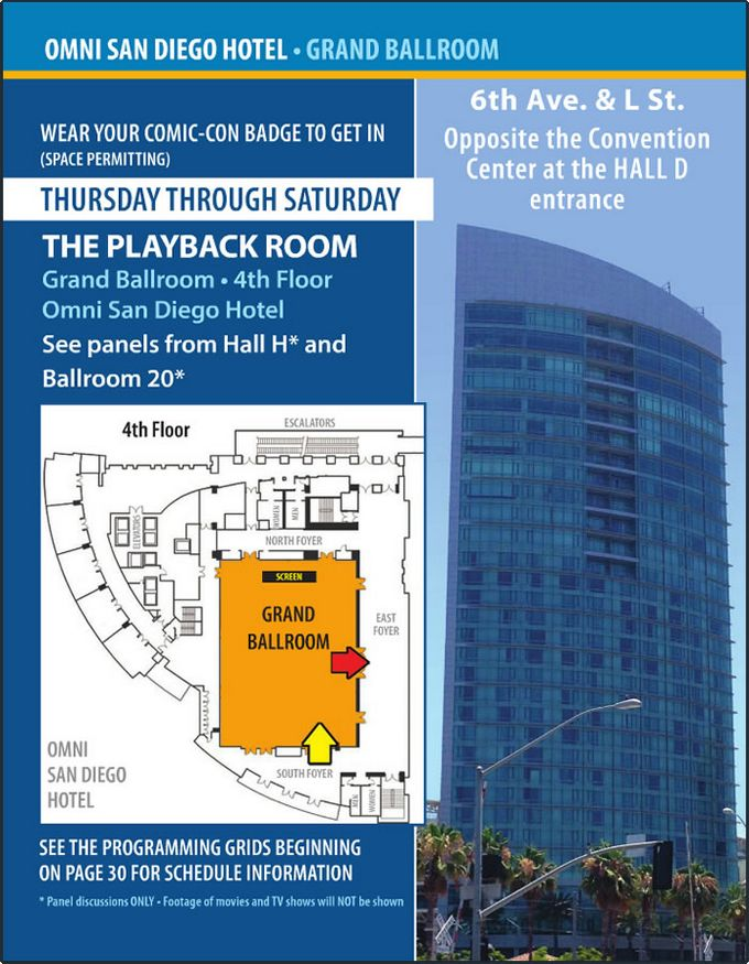 Comic-Con 2014 Omni Hotel Map