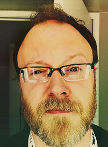 Chuck Wendig at WonderCon Anaheim 2017, March 31–April 2 at the Anaheim Convention Center