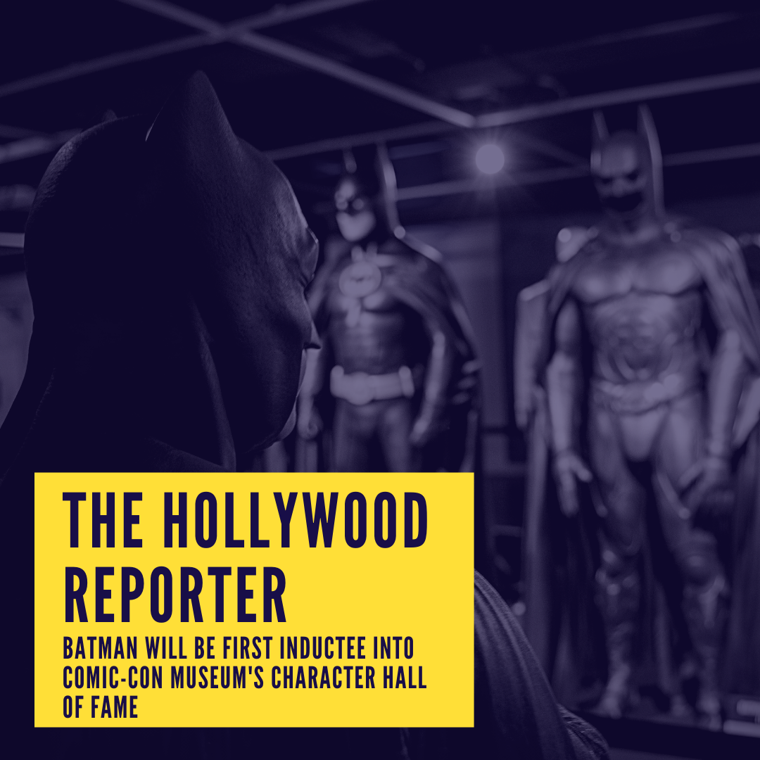 The Hollywood Report - Batman will be first inductee into Comic-Con Museum's Character Hall of Fame