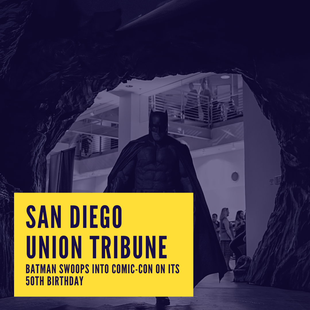 Icon for San Diego Tribune - Batman swoops into Comic-Con on its 50th Birthday