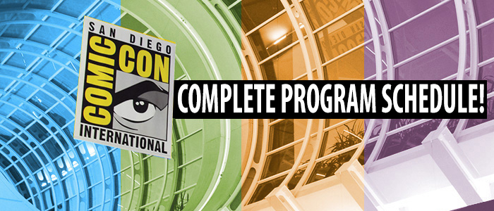 Comic-Con International 2014 Program Schedule