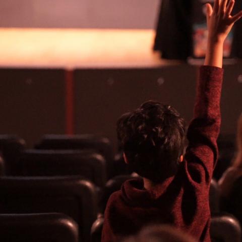 Youth raising hand
