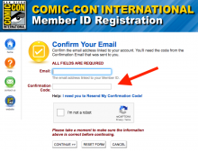 Comic-Con International Registration Update