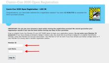 Comic-Con 2020 Registration Update