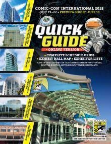 Comic-Con 2018 Quick Guide Online Edition