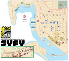 Comic-Con 2018 Free Shuttle Service Map