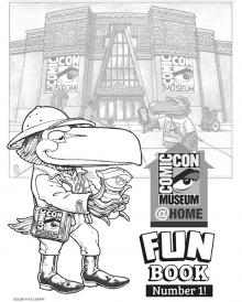 Comic-Con Museum@Home Fun Book Number 1
