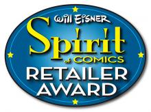 Will Eisner Spirit of Comics Retailer Award logo