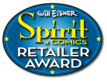 Eisner Spirit of Comics Retailer Award logo